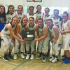 MOVING ON: The Central High girls basketball team celebrates advancing to this week's area tournament after winning the regional consolation bracket at Union City last Saturday.