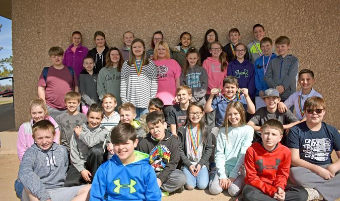 SCIENCE STUDENTS: Marlow Middle School students who participated in the Stephens County Science Fair on March 2.