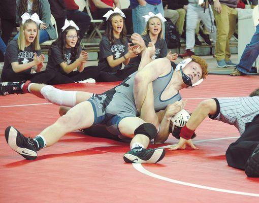 ALL STATE: Marlow senior Noah Overshine was named to the All State wrestling team last week. Overshine was a three-time state qualifier for the Outlaws.