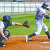 MAKING CONTACT: Marlow senior Wyatt Bergner bats in the Outlaws win over Anadarko Saturday.