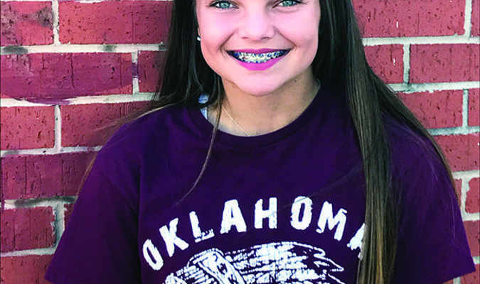STATE FFA CHORUS: Elaina Kulhman, freshman Marlow FFA member, has been selected to sing in the State FFA chorus at the convention in Oklahoma City, May 1-2.