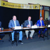 TALKING POLITICS: Oklahoma District 51 Rep. Brad Boles (center) addresses constituents at the Duncan Chamber of Commerce Legislative Coffee last Friday. Listening in are state legislators Rep. Scooter Park, Sen. Paul Scott, Sen. Chris Kidd and Rep. Marcus McEntire.