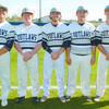 BASEBALL SENIORS: Marlow senior baseball players were honored in their final regular season home game last Thursday. Pictured: (from left) Blaise Voight, Noah Overshine, Tanner Ladon, Austin Gilley and Wyatt Bergner.