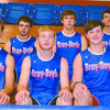 DONKEY TRACK TEAM: (Bottom row, from left) Coach Tim Whaley, Mark Kilbourn, Tyler Anderson, Wyatt Tarver and Gunther Helton; (top row) Kane Helton, Nathan Turner, Justin Miller, Wesley Saltsman and Cole Talley. Not pictured is Joe Lumbert.