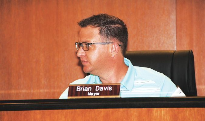 FIRST MEETING: New Marlow mayor Brian Davis oversaw his first city council meeting Tuesday.