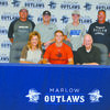 RANGER WYATT: Recently graduated Wyatt Bergner of Marlow signed a baseball scholarship with Northwestern Oklahoma State University in Alva Tuesday morning. Seated with Wyatt is his parents Janet and Terry Bergner. Standing from left are Marlow assistant baseball coach Eddie Herchock, Wakley Bergner, Will Bergner and Marlow head baseball coach John Morgan.