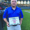 Former Central High baseball coach Jeff Jones was honored by the Oklahoma Baseball Coaches Association