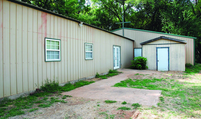CHURCH HIT: Thieves stole the copper tubing from Cornerstone Chapel Cowboy Church in southern Grady County as the church was in the process of re-opening its door after three years.