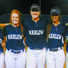 : Marlow celebrated its five seniors following the Lady Outlaws' regular season finale against Duncan. Pictured: (from left) Devyn Dennison, Kaytlyn Smock, Lauren Wade, Jenna Keeler and Mia Meshell.