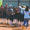 HOME RUN: Marlow players prepare to congratulate Mia Meshell as she nears home plate following a home run in the Lady Outlaws' game against Jones last Thursday.