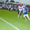 BIG GAME: Marlow running back Peyton Ladon picks up a big gain on a screen pass against Pauls Valley last Friday night.