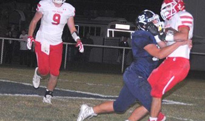 Marlow linebacker Carson Moore makes a tackle.