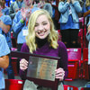 "SURPRISED AND HONORED: Marlow senior Lily Smith holds the ""Difference Maker Award"" she received at the Oklahoma Association of Student Councils State Convention, which was held in Bixby the first weekend in November."