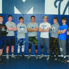 STATE QUALIFIERS: Marlow is sending 11 wrestlers to the state tournament this weekend. Pictured (from left): Case Rich, Kyle Davis, Bryson Hughes, Kyle Wilson, Kobey Kizarr, Tyler Lavey, Jayden Absher, Jordon Taylor, Tyler Lawson, Anthony Orum and Carson Moore.