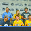 Senior Kobey Kizarr signed a letter of intent to wrestle at UCO on Wednesday.