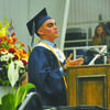 Valedictorian Gavin Banks addresses the Class of 2019.  Photo by Elizabeth Pitts-Hibbard