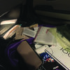 A Marlow resident took this photo of her car interior after she discovered on Tuesday that it had been rifled through overnight. Police believe they have the suspects from this and several other burglaries in custody.