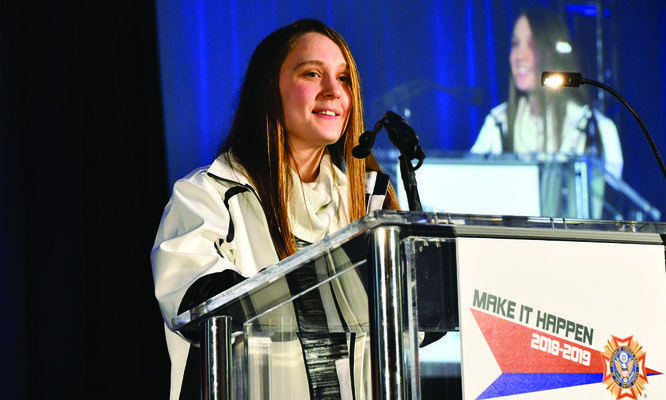 "Christine Troll, a senior home-school student from Somerset, Pa., was named the 2018-19 Voice of Democracy first-place winner. Christine's speech on the theme, ""Why My Vote Matters,"" won her a $30,000 college scholarship."