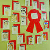 Self-portraits line the halls of Marlow Elementary for Red Ribbon Week.
