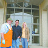 Volunteer Bob Hill and coordinators Jim and Pam Spurlock at the First Baptist Church Life Center in 2010.
