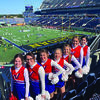 Members of the Marlow Cheerleading Team who performed at the Citrus Bowl are, from left: Kyah Blundell, Journey Bennett, Jessie Bennett, Aspen Trueblood, Danielle Gill, Valhana Woods, Kearsten Ball