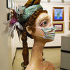 """The Masks We Wear,"" a sculpture by Katherine Farrow, was chosen Best in Show at Chisholm Trail Arts Council's annual Holiday Art Show."