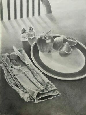 """""""Still Life in Graphite"""" by Alayna Hill, of Marlow"""