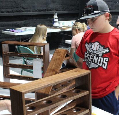 Ralls County 4-H Member Cole Baxter at the Ralls County Fair
