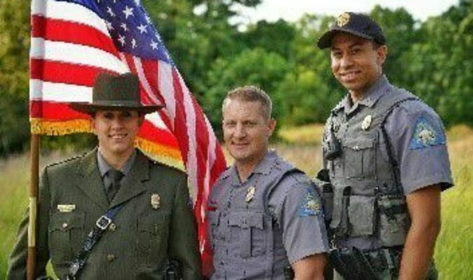 MDC is accepting applications for its next class of conservation agent trainees. Graduates will join (l-r) Conservation Agents Sarah Foran, Caleb Sevy, Justin Pyburn and other agents in enforcing the Wildlife Code of Missouri, educating people about conservation, and serving the public as an ambassador for conservation.