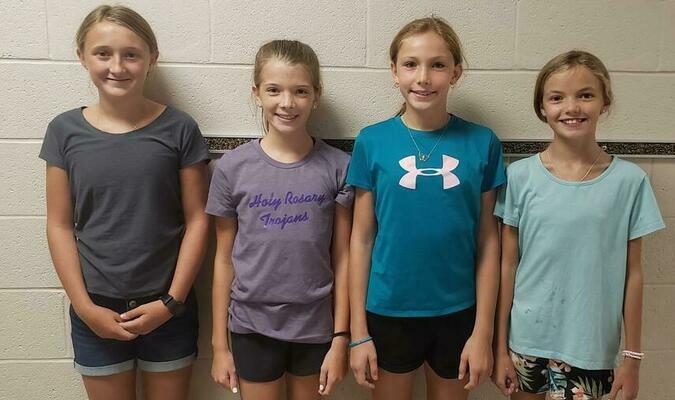 Sixth Grade  -  Left To Right  -  Emily Lincoln, President; Brynn Williams, Vice President; Rylie Mulvaney, Secretary: Karsyn Williams, Treasurer