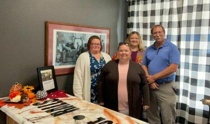 L-R Holly Billett, Lacey Shumard, Robin Gregg with Rural Missouri Magazine Editor, Jim McCarty.