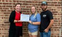 Congratulations to Macy McCurdy and Brandon McCurdy with McCurdy Fertilizer and Chemical