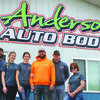 Staff at Anderson Auto Body & Detailing:  Blayne White, Savannah Neisen, Skylar Anderson, Brandon Anderson, Jerrid Hopwood, and Shelley Neisen.