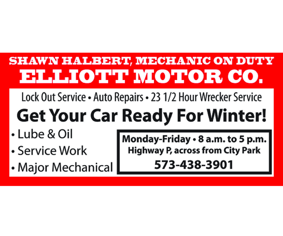 Elliott Motor Co. Winter Ad