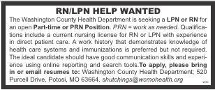 Help Wanted RN/LPN