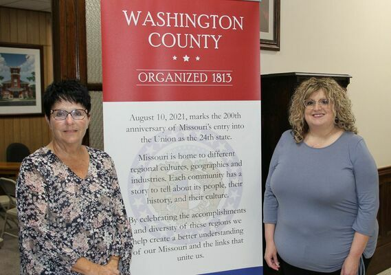 Heather Eckhoff, Washington County New Assessor, also pictured Jenny Allen.