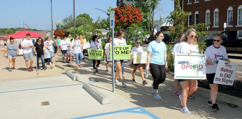 OPIOID AWARENESS WALK HELD – The Meramec Regional Planning Commission hosted an Opioid Awareness Walk on Saturday, Aug. 28th, 2021 in Potosi to try to help promote drug abuse, addiction and awareness for the struggles that many Missourians suffer with daily. A good group gathered to support the walk as they traveled through Potosi during the bright sunny day. There are several area contacts that offer assistance and support, if you or someone you know needs help, don't be afraid to ask. It is here and available.