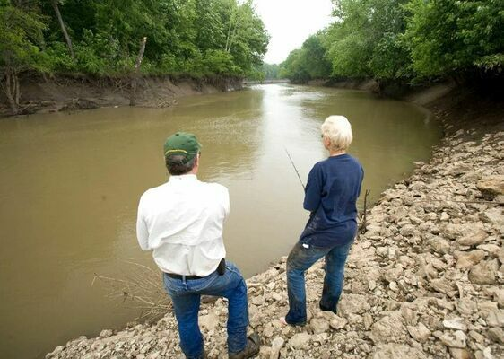 In addition to helping people connect with the outdoors, fishing can be comforting to the mind. The therapeutic benefits of fishing for people living with dementia will be the focus of a Sept. 18 fishing event in Greene County put on by the Missouri Department of Conservation and the Greater Missouri Chapter of the Alzheimer's Association. (MDC Photo)