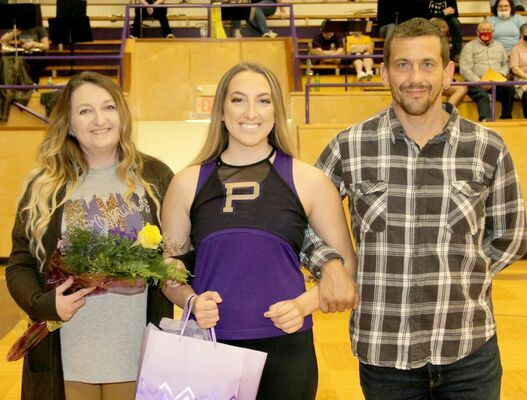 P.H.S. SENIOR NIGHT – Rylie Smith is a 20-21 Golden Spirit Pommie for the Trojans. She was escorted by her mother, Tara Medley and father, Jared Smith.  Senior Night was celebrated at P.H.S. on Friday, Dec. 11th.
