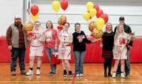 8th Grade Girls Carsyn Yount daughter of Blake Yount and Kelley LeRoy Hannah Martin niece of Chris Holder Carleigh Loughary daughter of Cody and Julie Loughary Kyndra Civey daughter of Jordan and Karey Civey Haylee Moore daughter of Ben and Andrea Moore