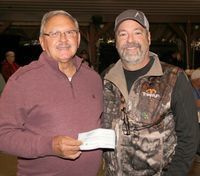 McDOWELL SOUTH RV SUPPORTS POTOSI ELKS – Kyle McDowell of McDowell South RV presented a donation check to Randy Eaton, Potosi Elks Lodge #2218, for the Annual Elks Christmas Charity Program that is coming soon. The Annual Charity Auction at the Potosi Elks has been scheduled for Saturday, Dec. 5th, 2020.