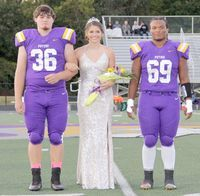 P.H.S. SOPHOMORE MAID  was Lauryn Reed who was escorted by #36 (Big Brother) Senior Bryce Reed and #69 Senior Amondre McCaul.
