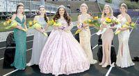 P.H.S. Maids & Queens, from left, Freshman Kaelynn Mosier, Junior Matti Cook, Retiring Queen Emmy Knapp, 2020 Queen Hallie Portell, Senior Sydney Litton and Sophomore Lauryn Reed.