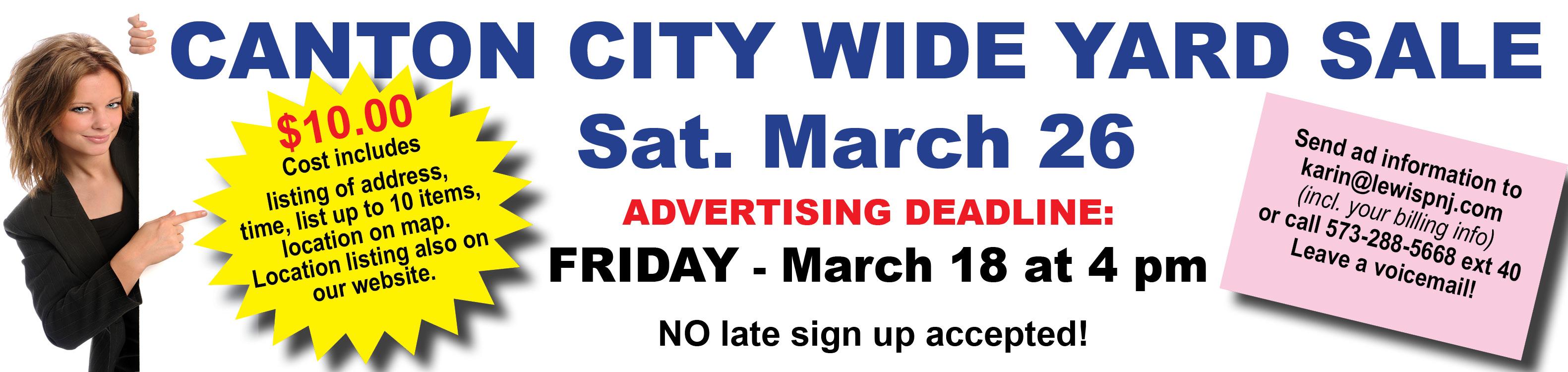 City Wide Yard Sale-Oct 2021