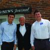 John Brunner, candidate for Governor of Missouri, and staffers Noah Brandt and Sam Saffa visited LaGrange on July 25.