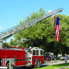 Canton Fire Department displayed a huge flag at the Relay for Life.