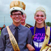 Highland Homecoming King Camden Scifres and Queen Alexa Klocke. First runners up were Malik Dade and Ruthie Neisen.