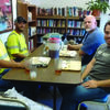 Brian Fuqua, Chris Billups Justin Roberts and Chad Evans, employees of Northeast Power, spent the day working on a variety of projects for Heartland Resources, Inc as part of a Day of Caring.