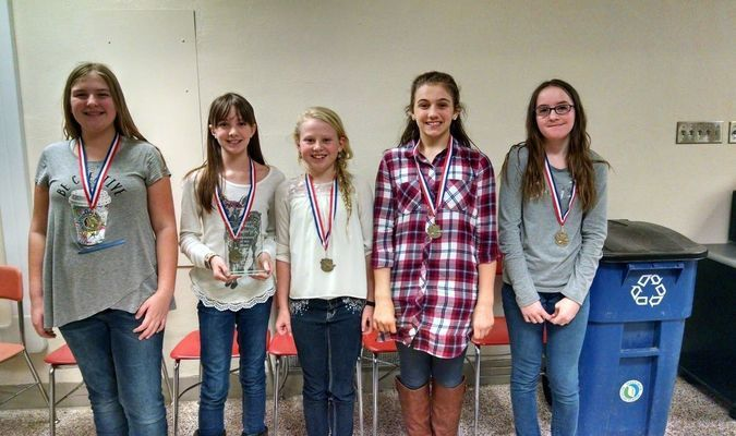 SOAR students pictured are:Sydney Farr, Macy Hamlin, Emma Harshberger, Olivia Ritterbusch, Kacy Stahl