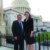 Sydney Luttrull with U.S. Rep. Sam Graves